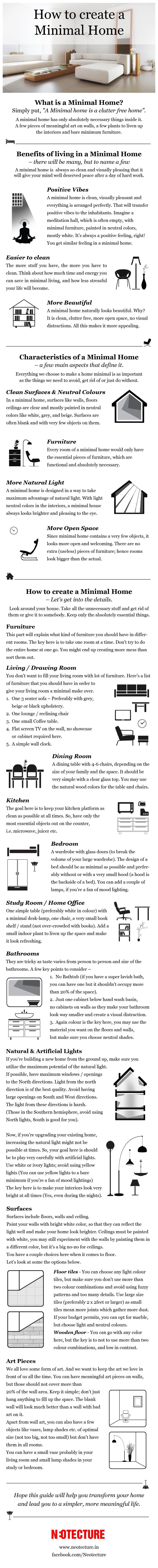 Create a Minimal Home Infographic