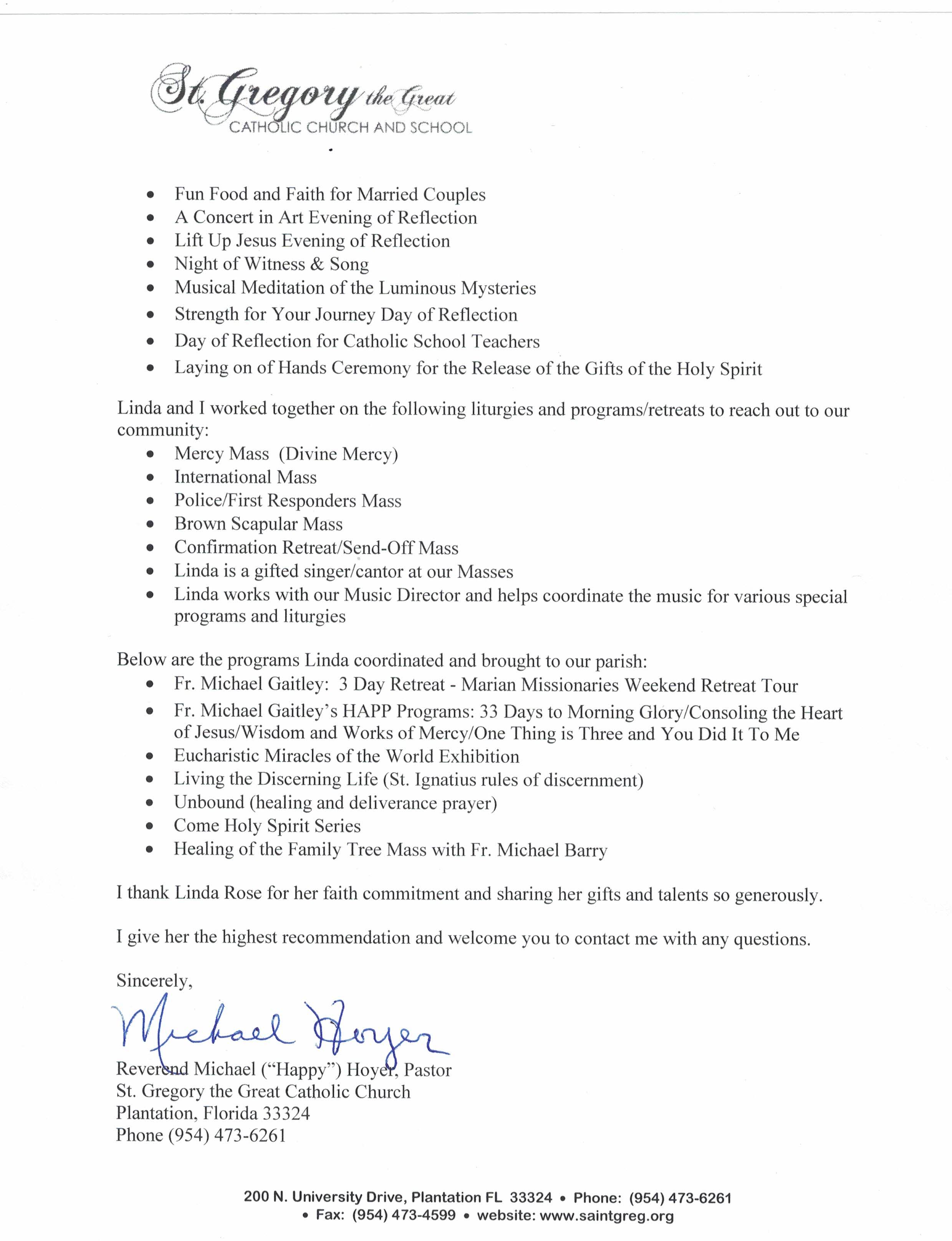 Letter from Pastor pg 2