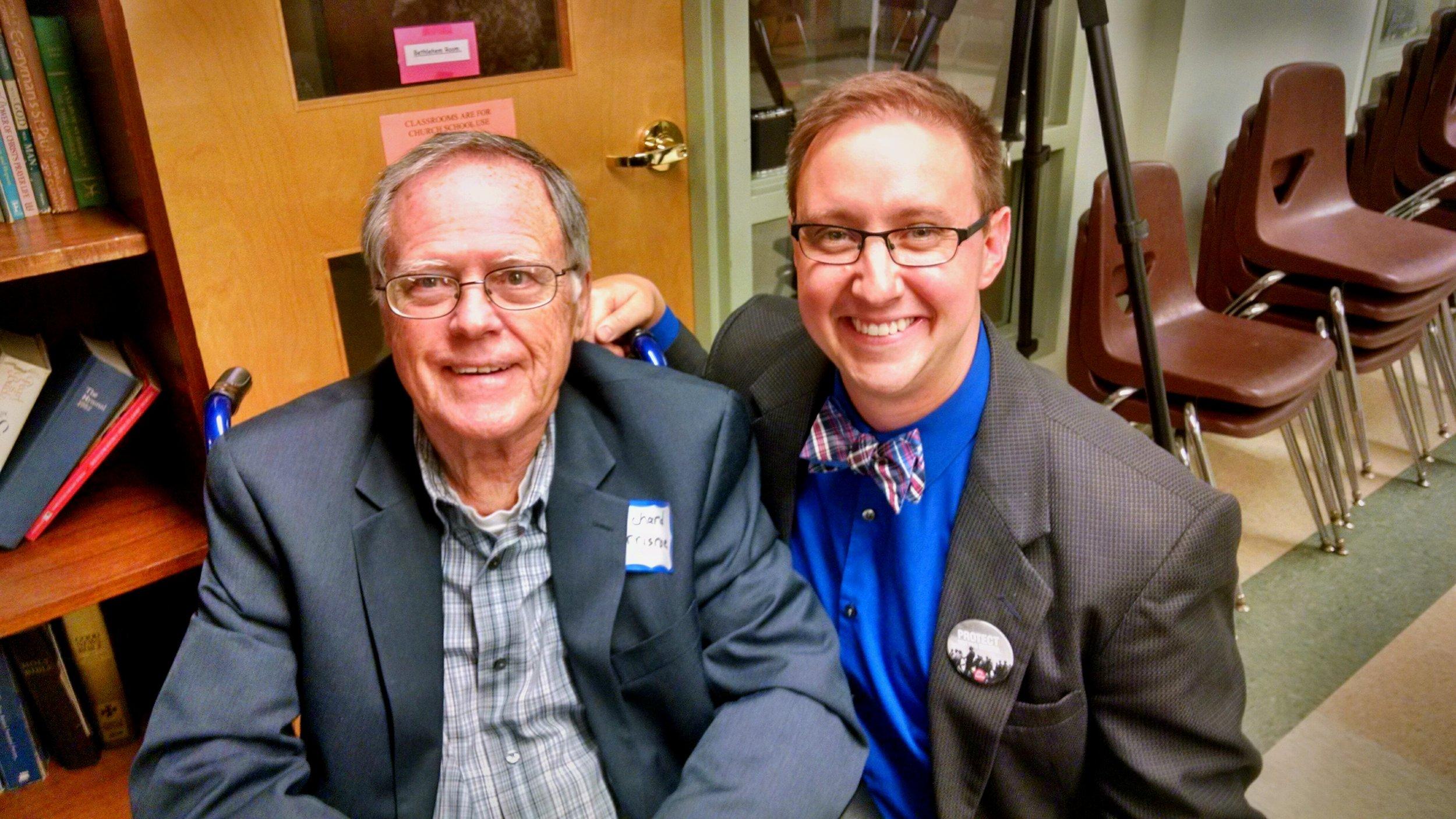 Derek with Richard Morrisroe, who was in Alabama with Jonathan Daniels