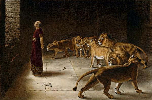 Daniel in the Lion's Den, Briton Rivière, 1890