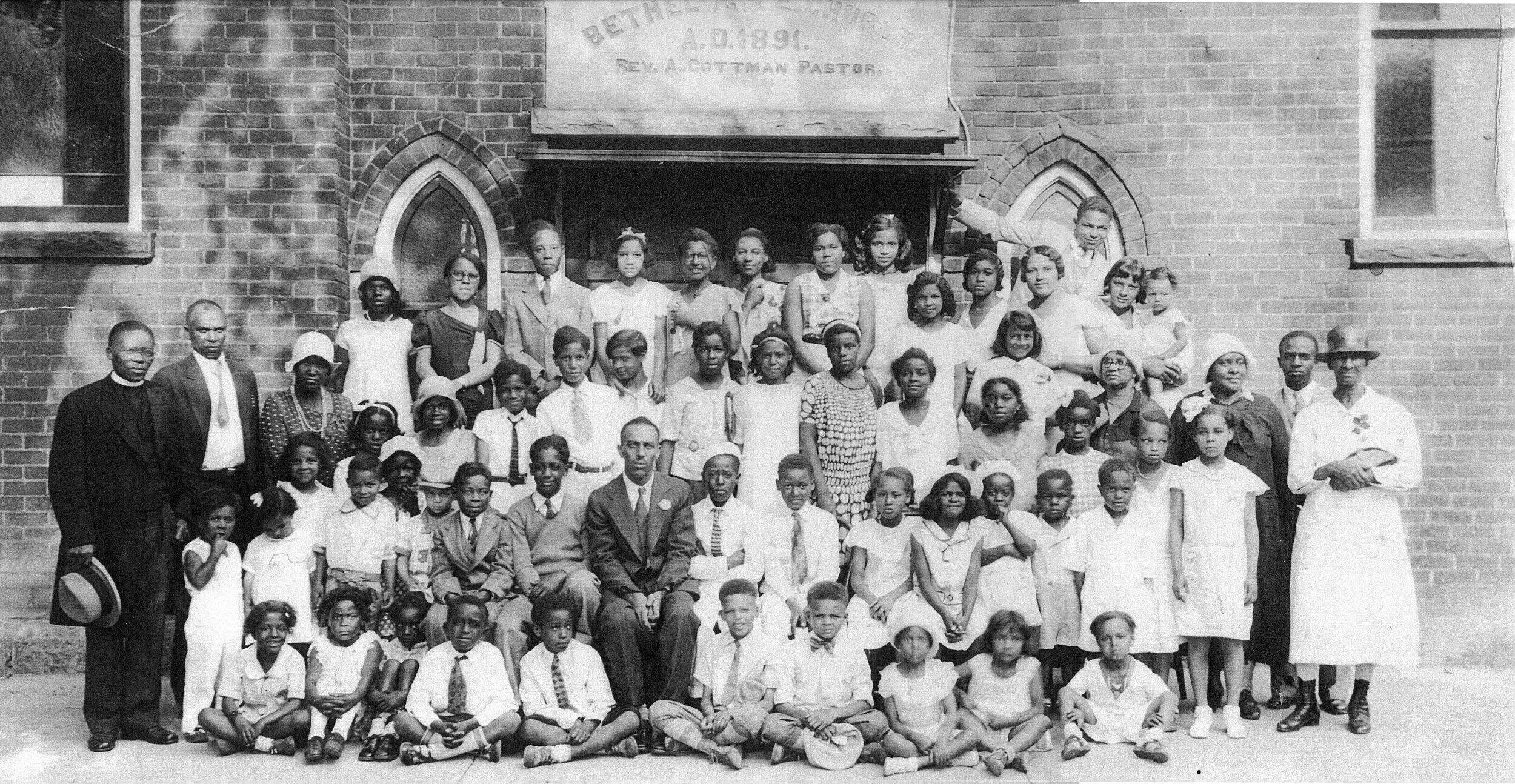 Sunday School at Bethel A.M.E., ca. 1930