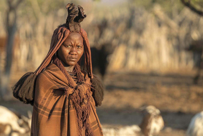 Himba kadını, Epupa civarı