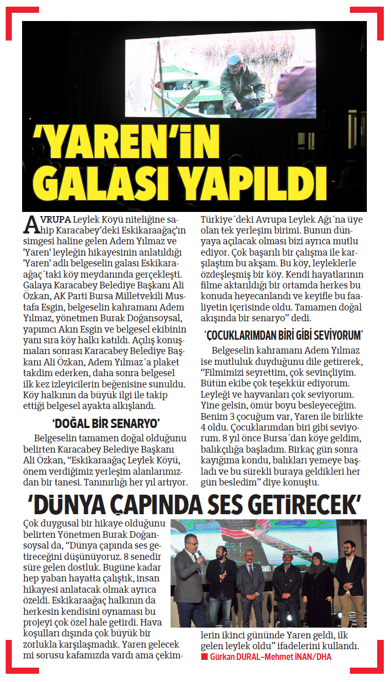 """Hürriyet Newspaper   24 September 2019 