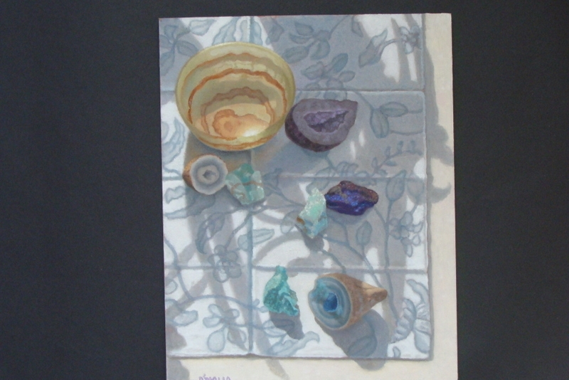 Minerals: Agate Geode, Green Calcite