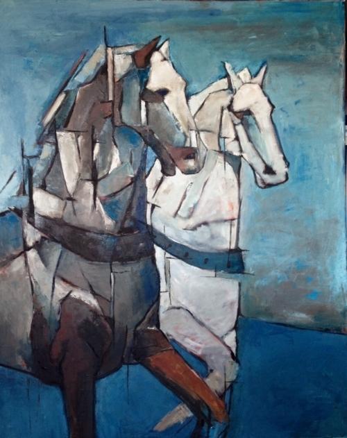 """""""White Horses"""", 48"""" x 36"""""""