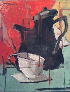 Black Coffee Pot