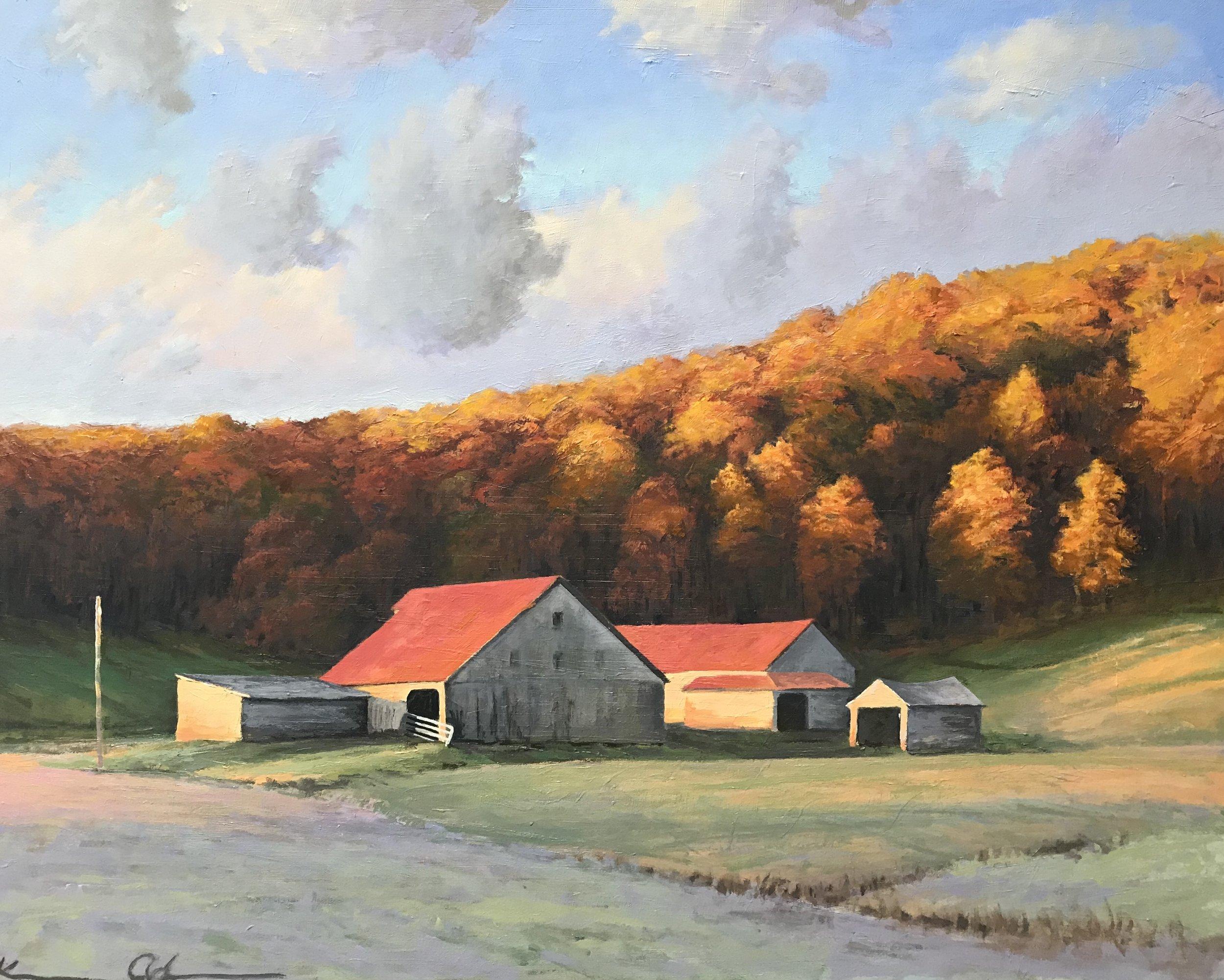 Ginger Hill Farm (Fall Morning) oil on panel 24x30.jpg