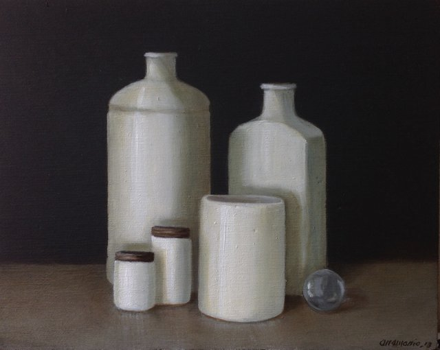 Copy of Milk Glass Bottles