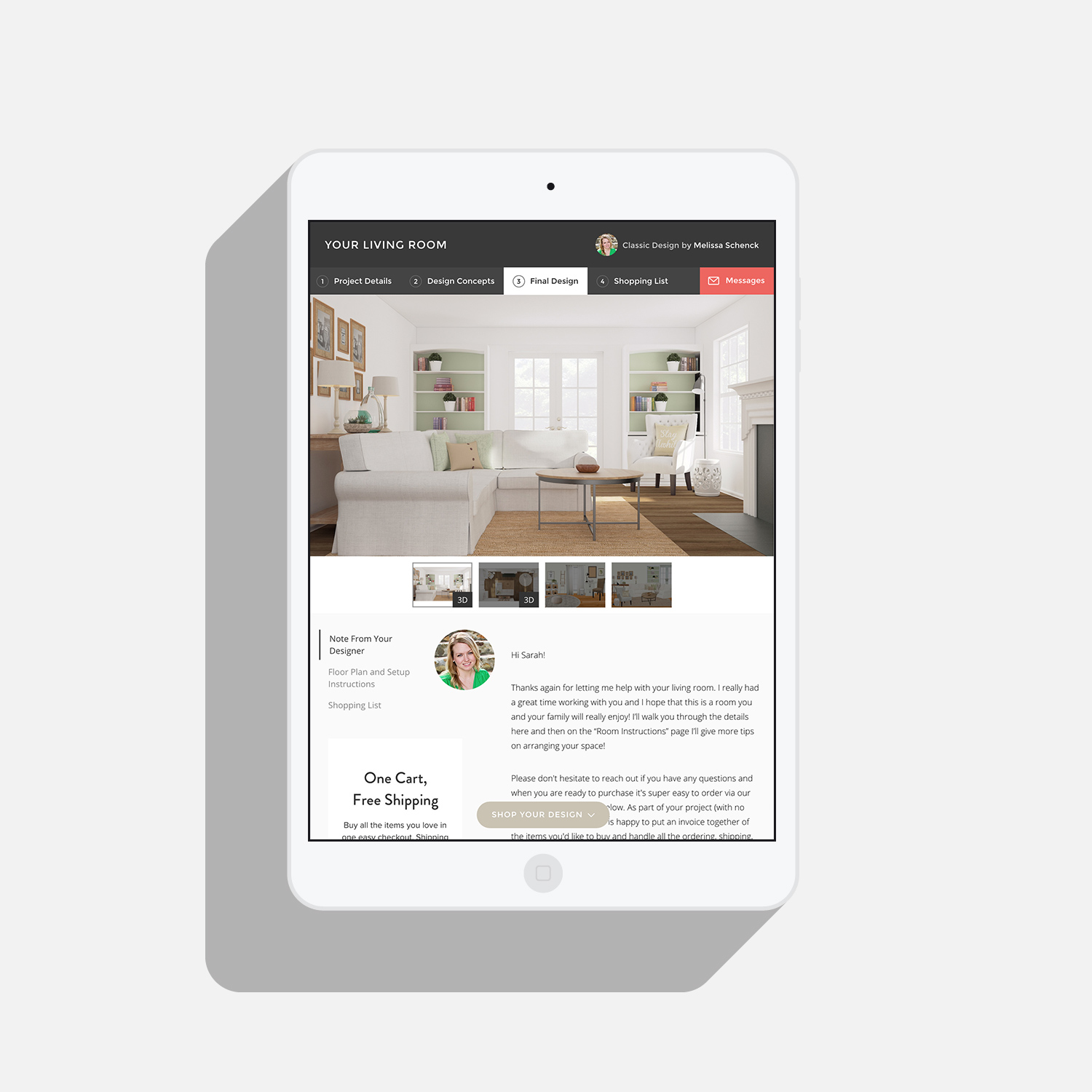 The entire platform is responsive –half of our customers view their designs on a mobile device or tablet.
