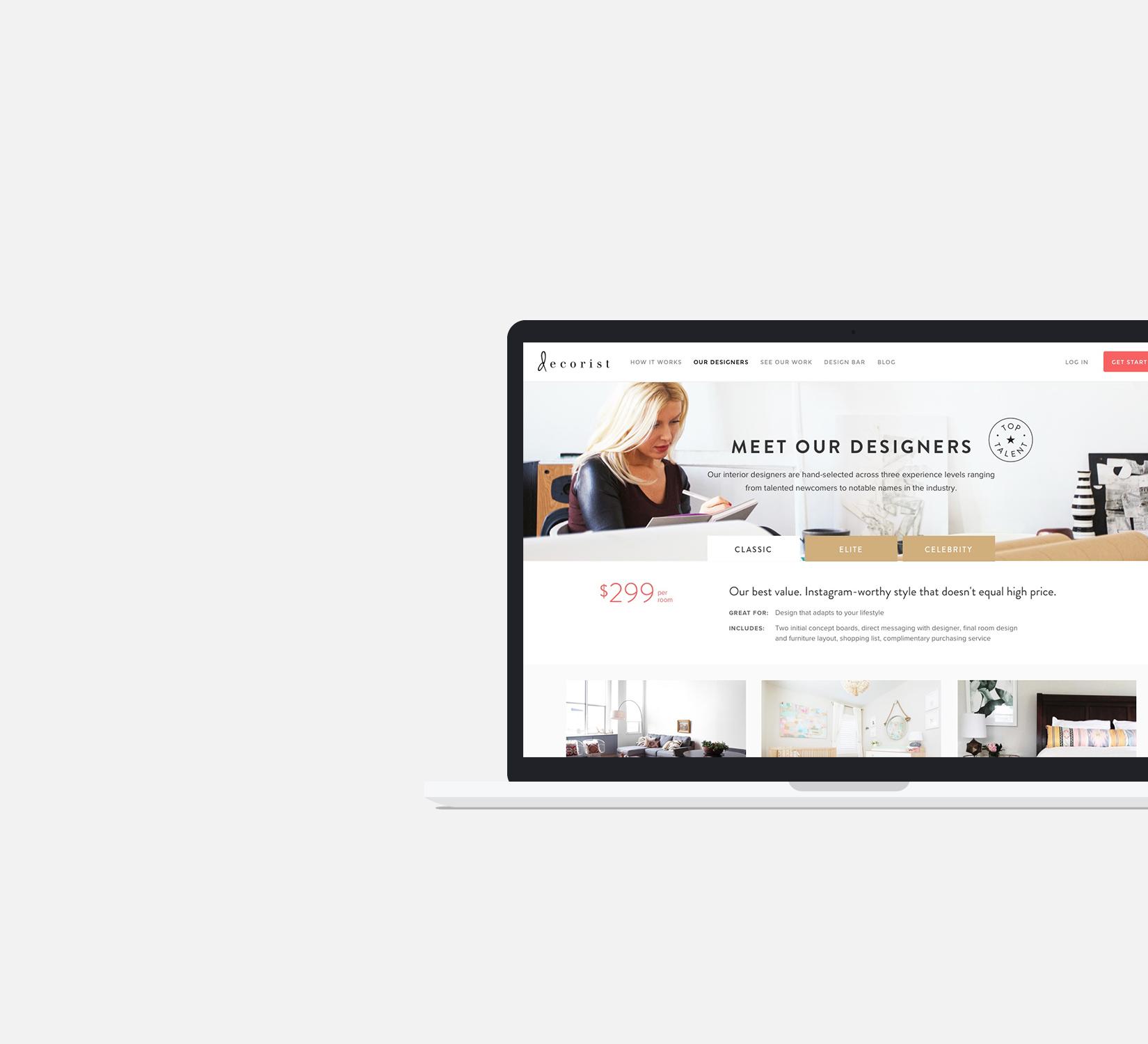 Designers listing page design