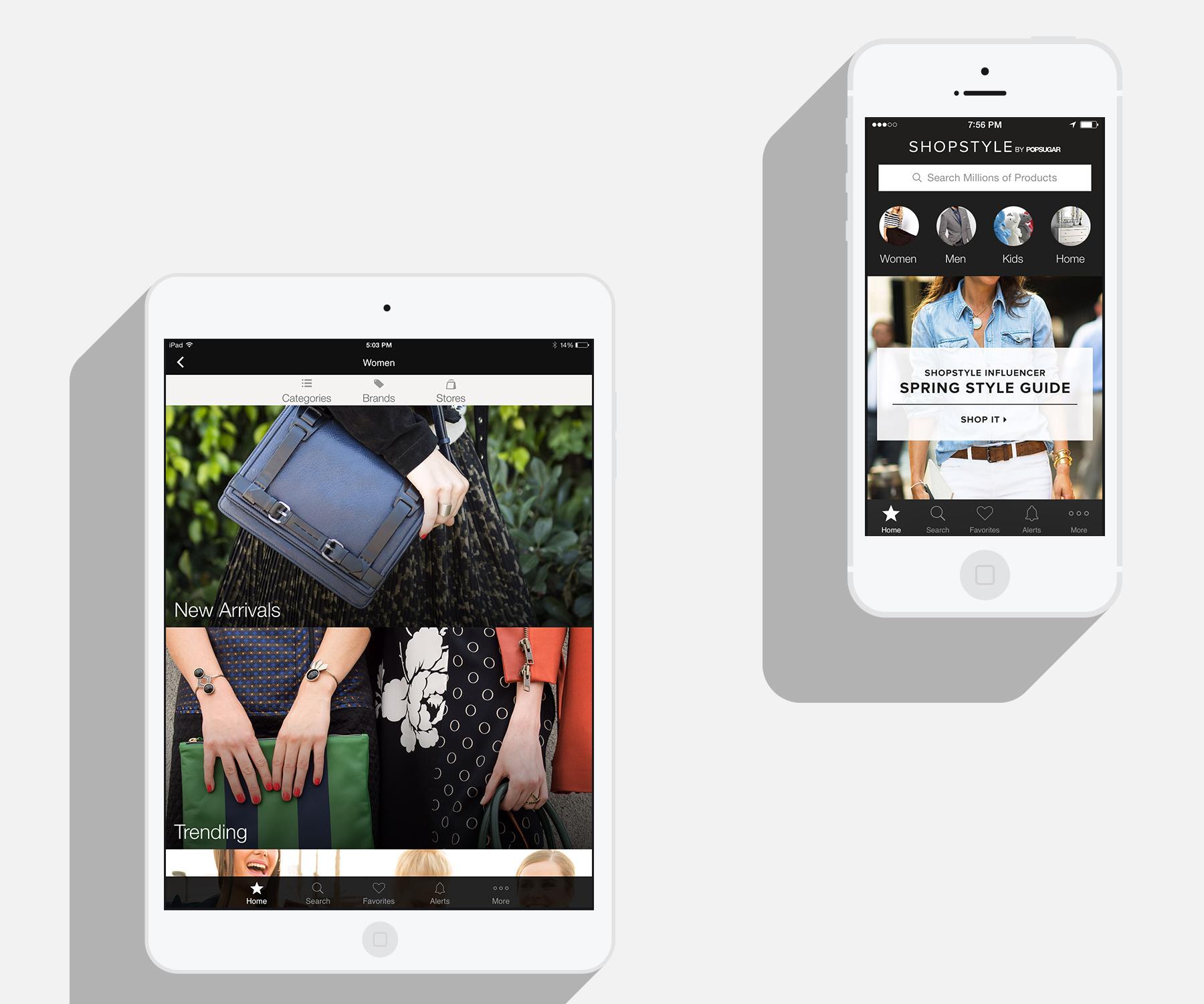 Mobile app page design