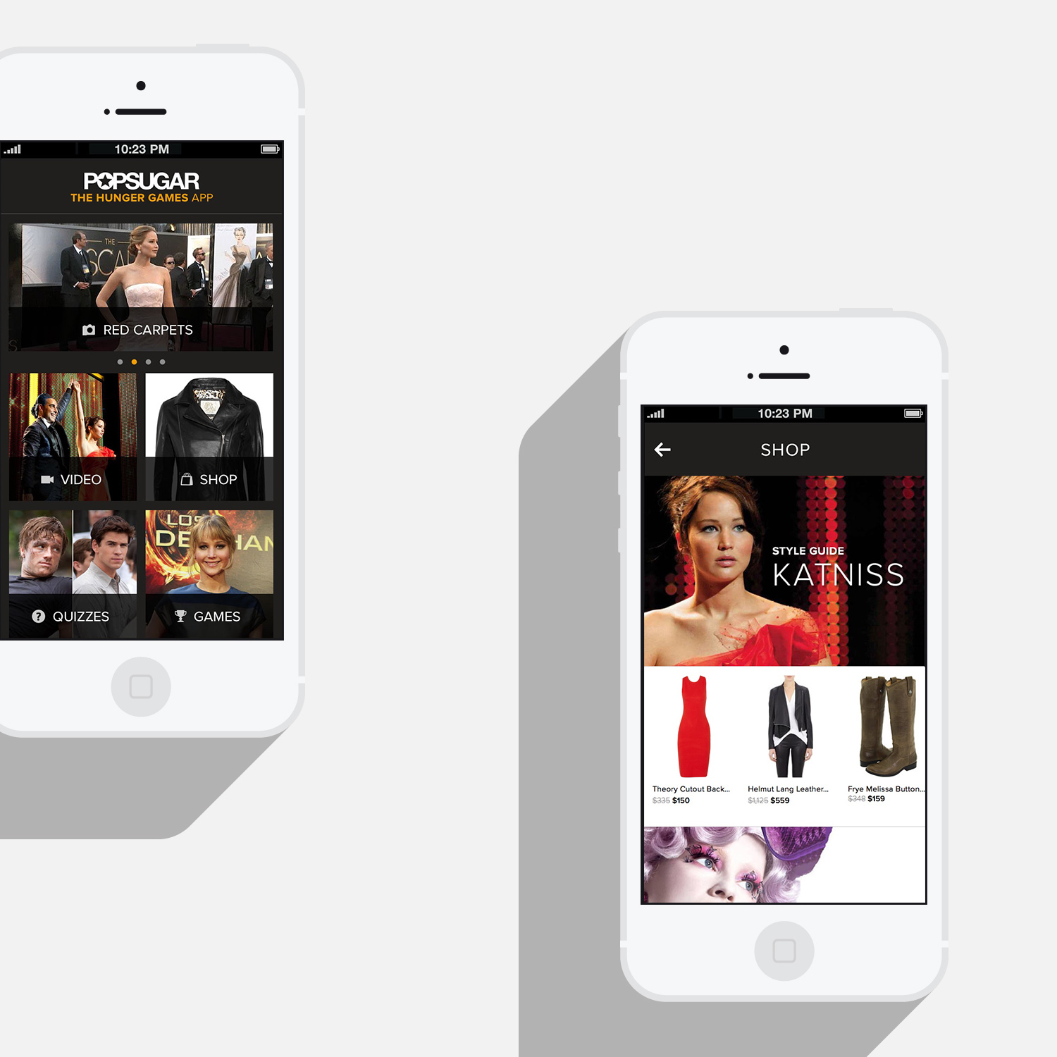 Hunger Games iOS app concept and UX/UI design