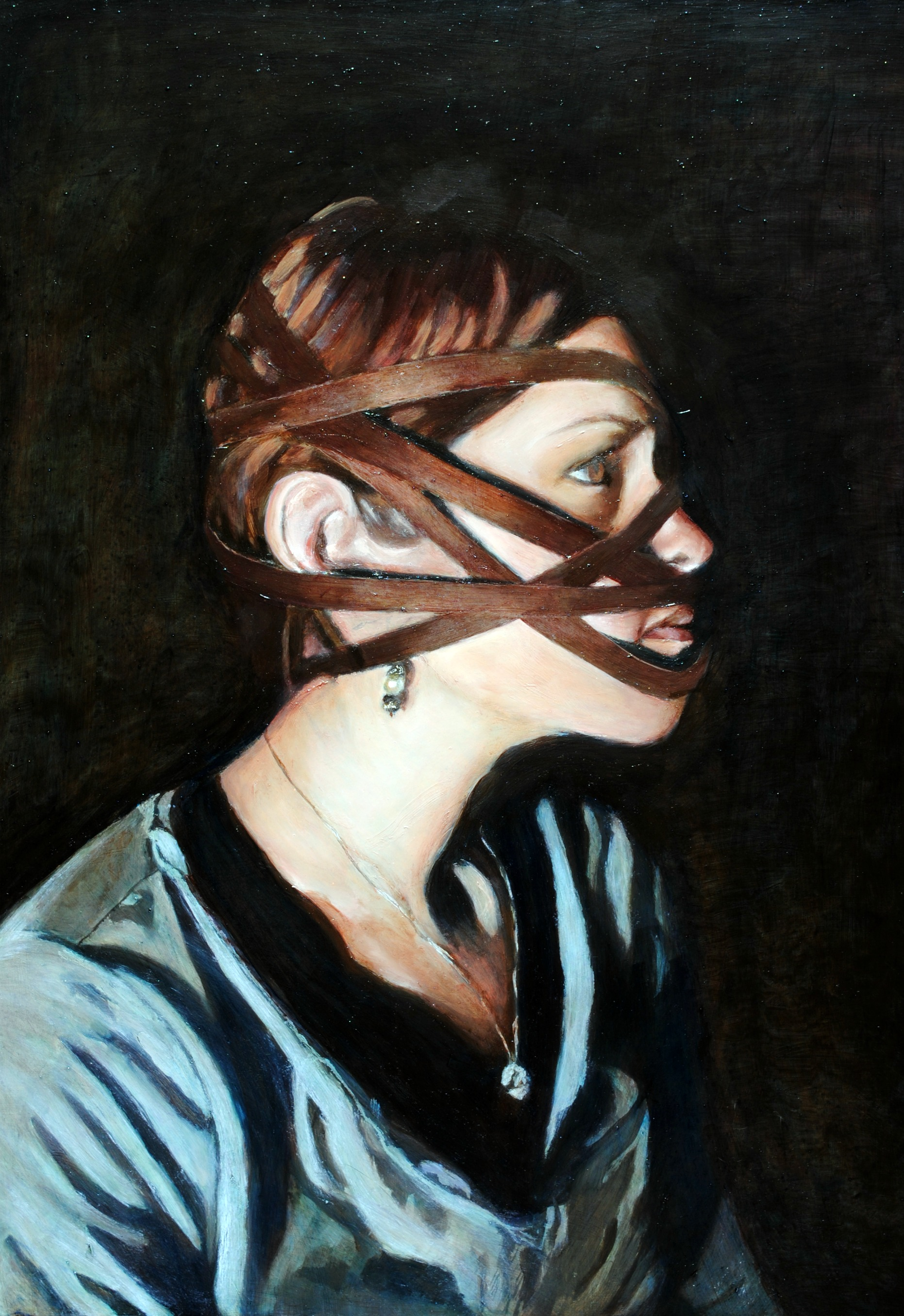 Self-Portrait 18x24 Oil On Wood Available
