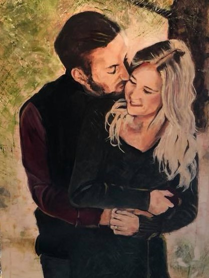 Rachel and Jacob 24x36 Commissioned for Private Collection