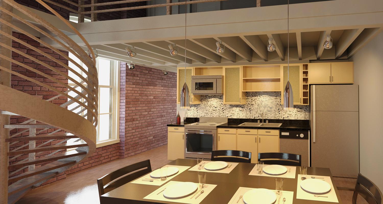 Downtown Loft - Kitchen