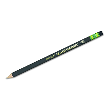 Triangular #2 Pencils    Wood Cased, Black, Pack of 12, by Dixon