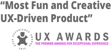 UX Awards Most Fun and Creative Driven Product