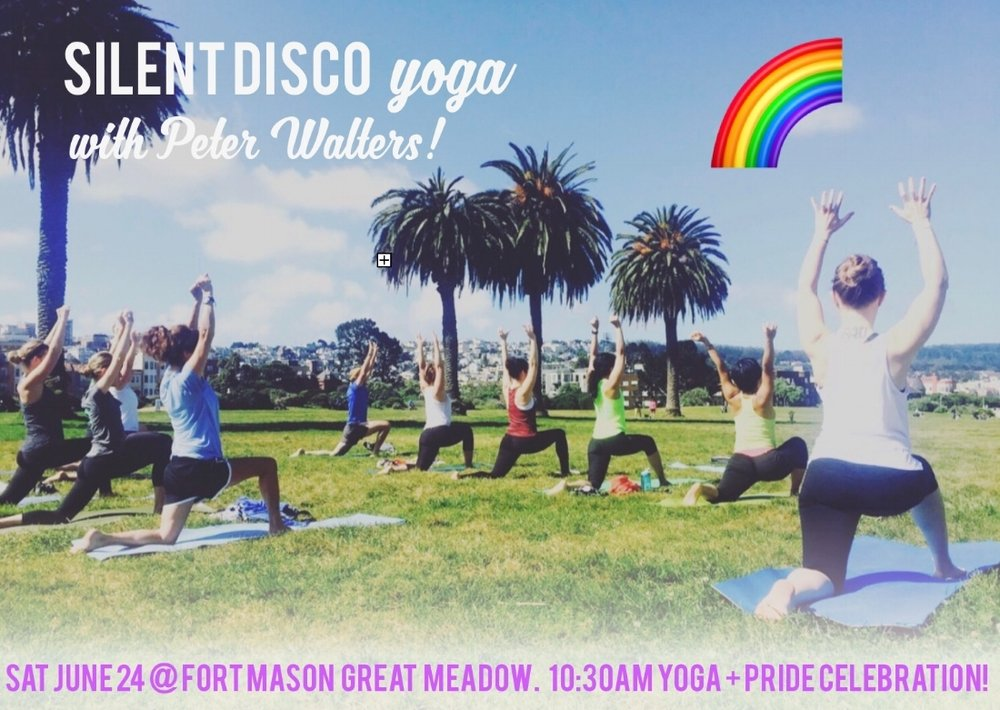 Join me Satuday, June 24th at 10:30am for this awesome silent disco yoga class at Fort Mason in San Francisco, CA! This event is hosted by Outdoor Yoga SF. We will sing, move, breathe and maybe even dance! Will you come?! Sign up HERE
