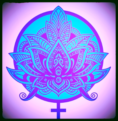 The purple lotus & universal symbol for women.