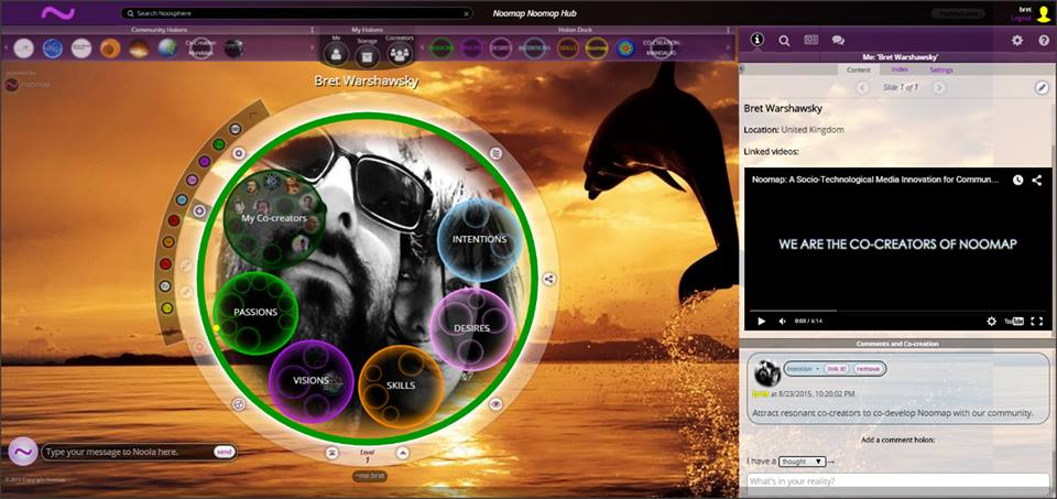"""While a variety of tools and apps will work within the P-Volt Network, we are thrilled to have found total Nerd Soulmates in our Tech & Mission Co-Creation Partners, called    Noomap :  —their site perfectly describes as """"Imaginal connectivity, a revolution in social technology."""" I call it genius and the moment I saw it, I knew we all must be on the same Galactic Download call. #knowhaddimean --  a percentage of all subscriptions will be earmarked to fund and support The Team and work at Noomap.  They get it. They got it. We gonna help make it goooood."""