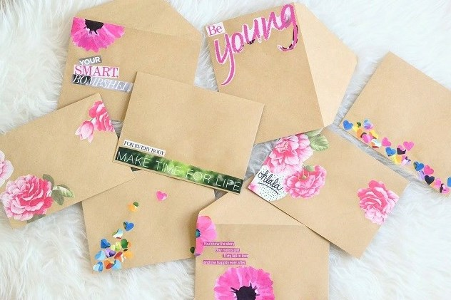 Diy Collage Envelopes