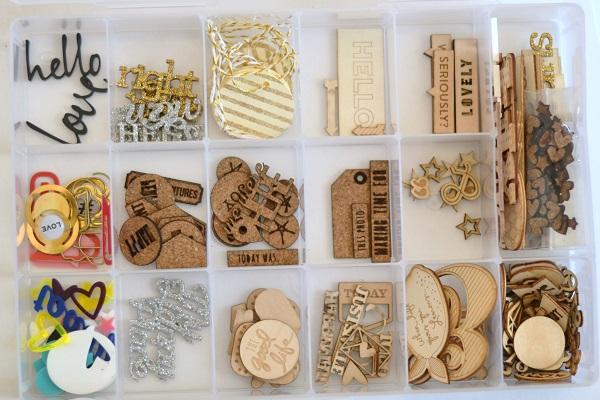 How to store wood veneer and cork embellishments