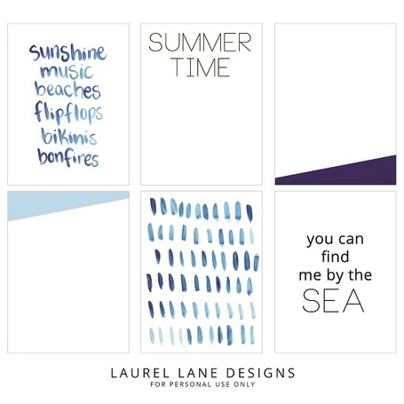 Summer-Themed Project Life Cards