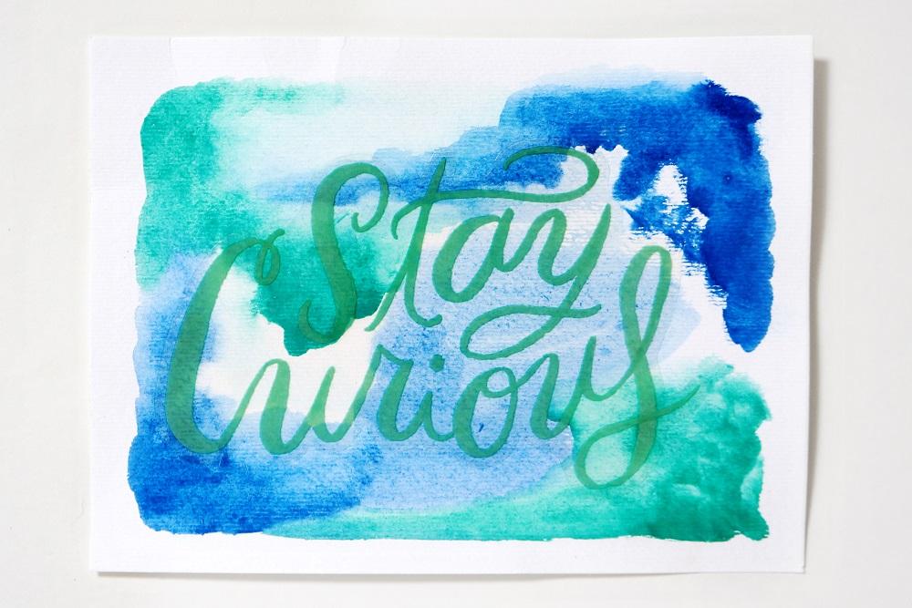 DIY Watercolor Quote Wall Art