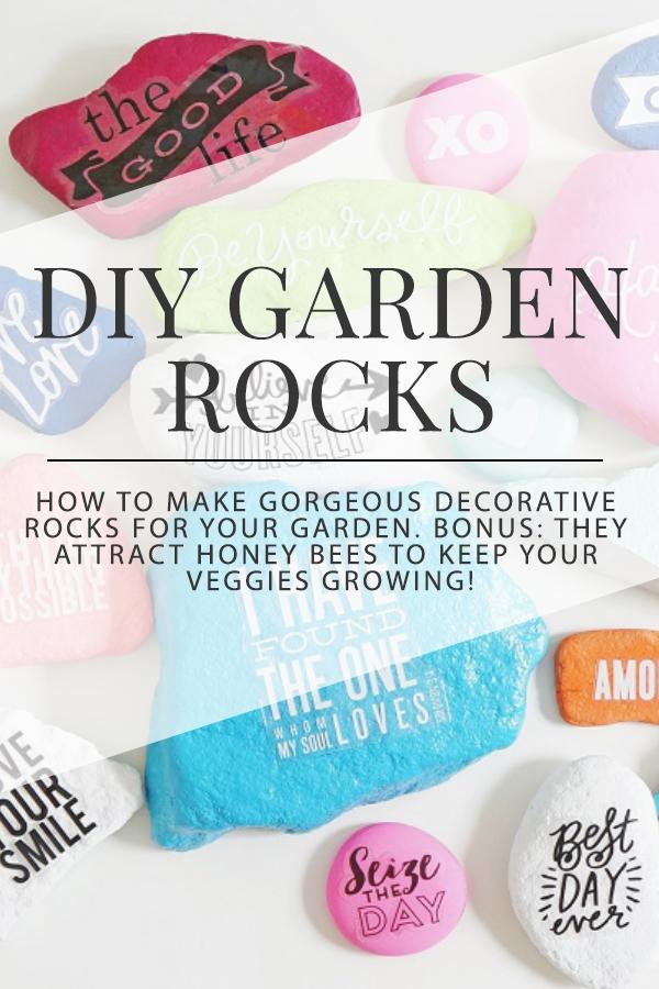 DIY Pretty Garden Rocks