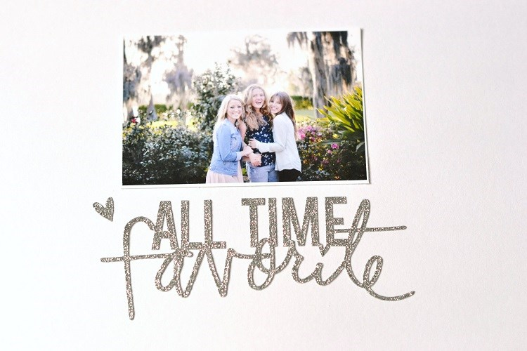 All Time Favorite Sisters Scrapbook Layout