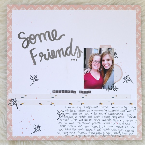 Some Friends Gossamer Blue Scrapbook Layout