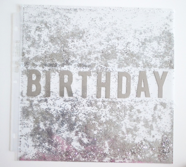 Birthday Scrapbook Title Page