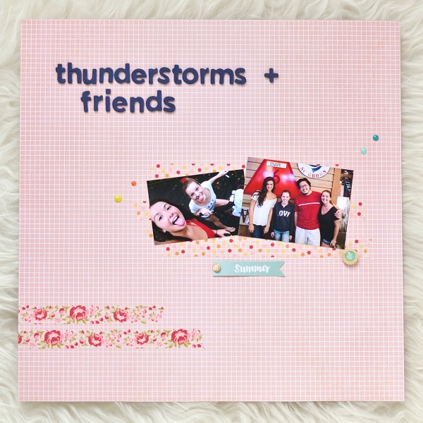 Thunderstorms and Friends Scrapbook Layout