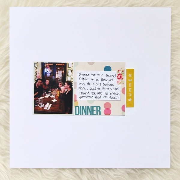 Dinner With Friends Scrapbook Layout