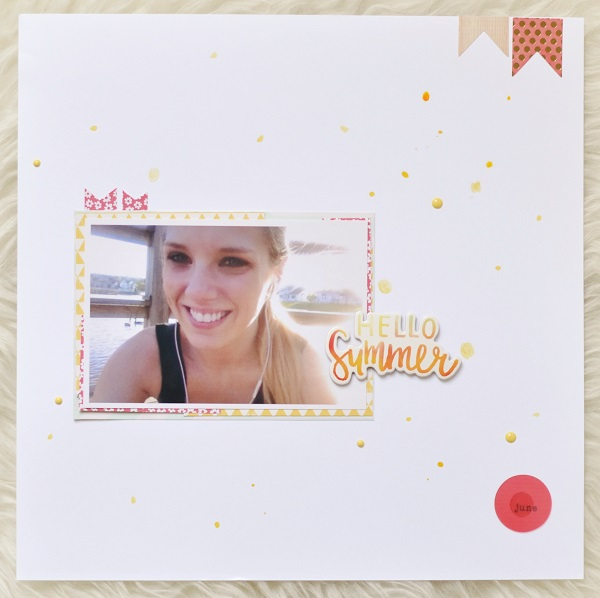 Hello Summer Scrapbook Layout
