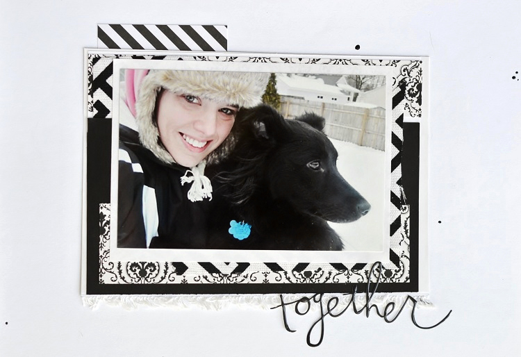 Snow Dog Scrapbook Layout