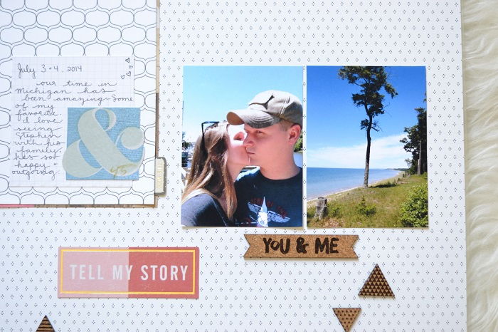 Lake Michigan Scrapbook Layout Gossamer Blue