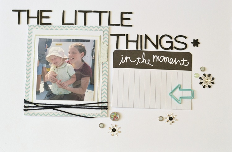 The Little Things Scrapbook Layout