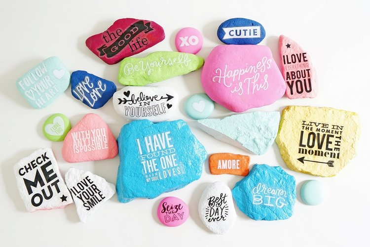 Diy Pretty Garden Rocks