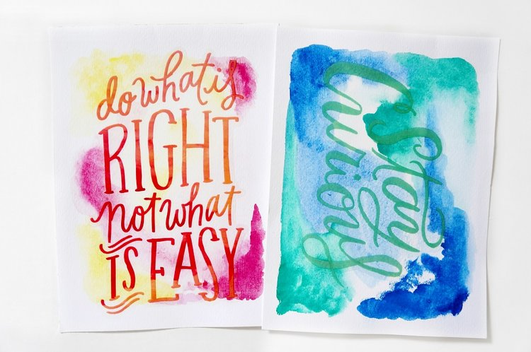Diy Watercolor Quote Art