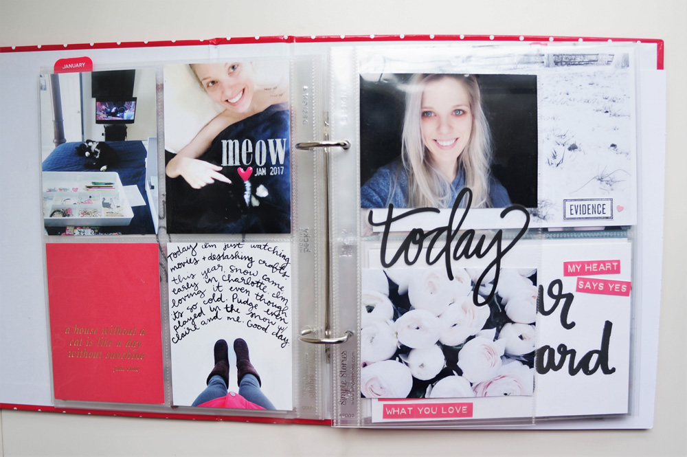 2017 Project Life Set Up and Flip through of January in a 6x8 PL album (10).jpg