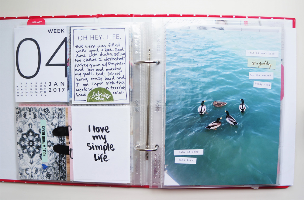 2017 Project Life Set Up and Flip through of January in a 6x8 PL album (16).jpg