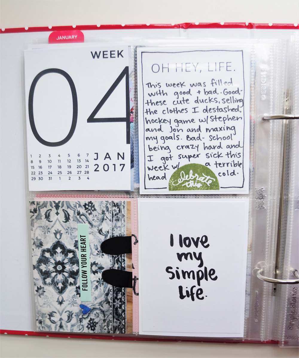 2017 Project Life Set Up and Flip through of January in a 6x8 PL album (17).jpg