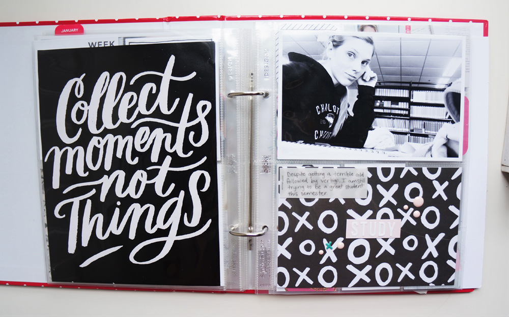 2017 Project Life Set Up and Flip through of January in a 6x8 PL album (19).jpg