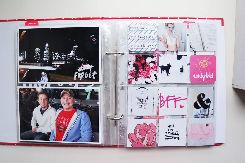 2017 Project Life Set Up and Flip through of January in a 6x8 PL album (20).jpg