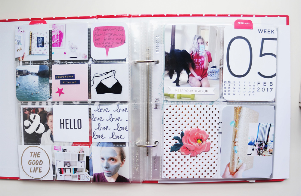 2017 Project Life Set Up and Flip through of January in a 6x8 PL album (23).jpg