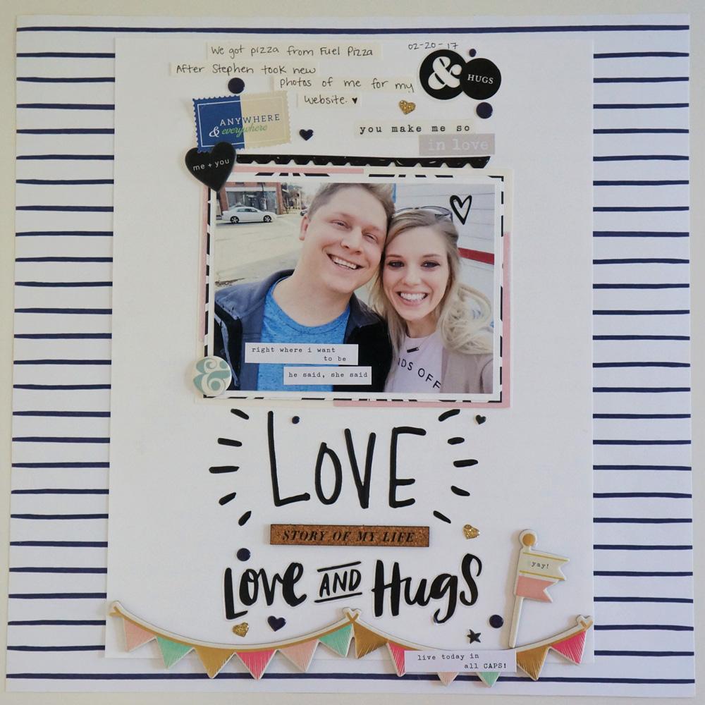 Love Striped Scrapbook Layout.jpg