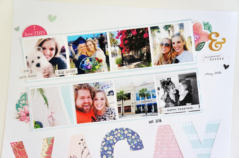 Florida Vacation Scrapbook Layout, Multiple photos on a 12x12 page (2).jpg