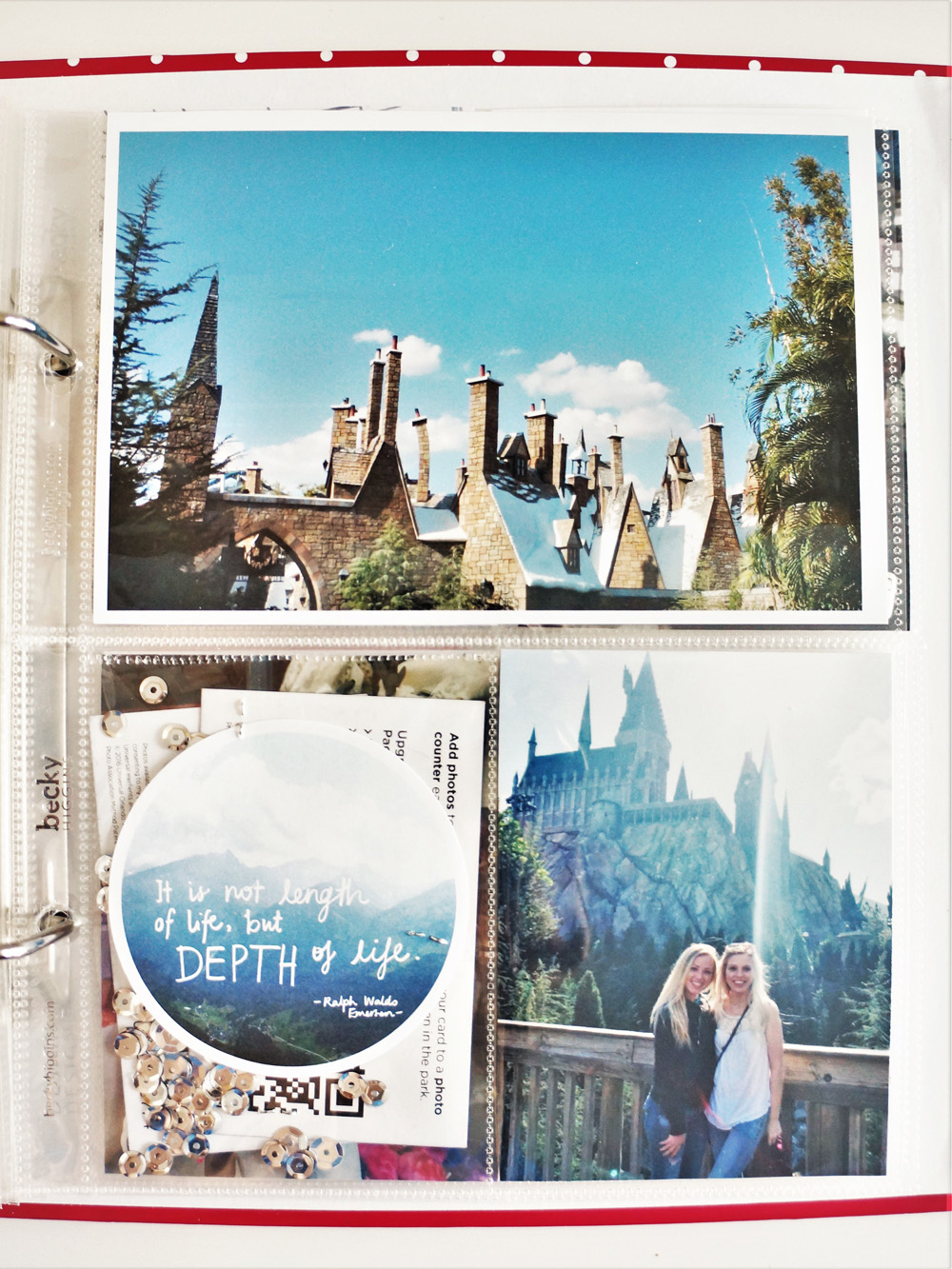 Harry Potter World Scrapbook Mini Album 6x8 Project Life (33).jpg