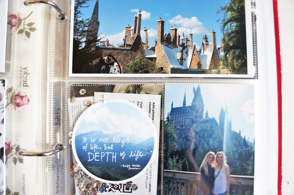 Harry Potter World Scrapbook Mini Album 6x8 Project Life (32).jpg